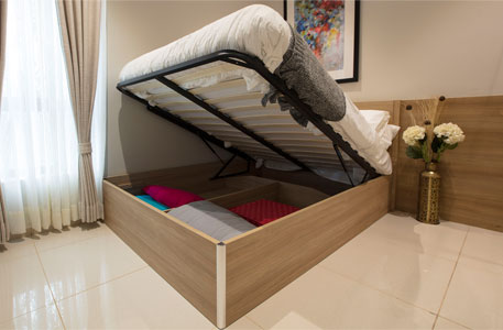 Wall bed becomes a study table