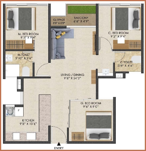 iconest5 floor plan two